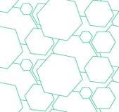 streszczenie gadka Geometrii zieleń Obrazy Stock
