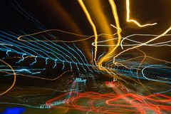 streszczenie kolorowe linii Energia wolty Fotografia Stock