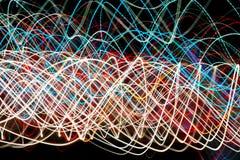 streszczenie kolorowe linii Energia wolty Obrazy Royalty Free