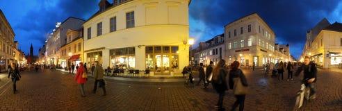 Stret di notte a Potsdam, Germania Fotografia Stock Libera da Diritti
