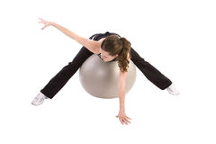 Stretch ball arm out Stock Photos