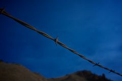 Barbed Wire Close Up Royalty Free Stock Photo