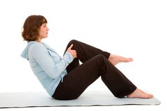 Stretch exercises Stock Image