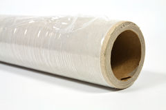 Stretch film. Roll of stretch film with different functions on a white background Royalty Free Stock Image