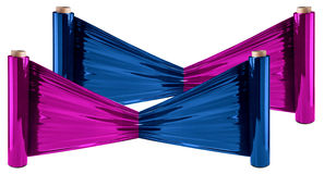 Stretch Foil, polythene film Stock Image