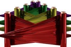 Stretch Foil, polythene film Stock Photography