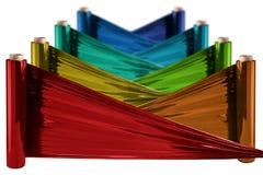Stretch Foil, polythene film Stock Photo