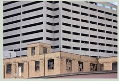 Stretch in Fort Worth, Texas. Parking garage.  Located in downtown, Fort Worth, Texas Stock Photo