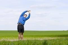 Stretch_horizontal ställningsandt Arkivfoto