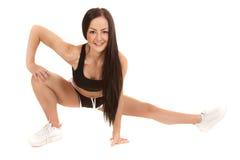 Stretch legs smile Royalty Free Stock Photos