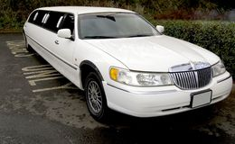 Stretch limo limousine big car Royalty Free Stock Photography