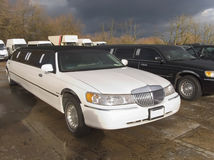 Stretch limo limousine big car. A Stock Image