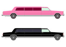 Stretch limo in two colors Royalty Free Stock Photo
