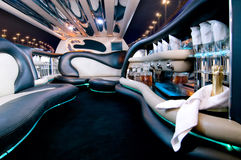 Stretch limousine. A luxury Stretch limousine interior Stock Photography