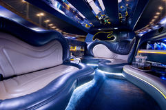 Stretch limousine. A luxury Stretch limousine interior Stock Images