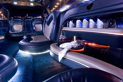 Stretch limousine Royalty Free Stock Images