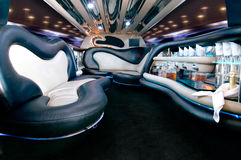 Stretch limousine. A luxury Stretch limousine interior Royalty Free Stock Photos