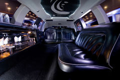 Stretch limousine. A luxury Stretch limousine interior Stock Photos