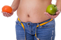 Stretch marks and cellulite,concept of healthy life Stock Images