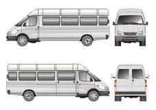Stretch passenger bus Royalty Free Stock Image