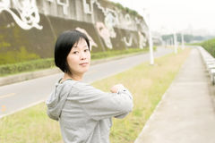 Stretch woman Stock Photos
