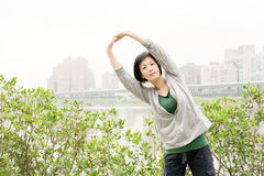 Stretch woman Royalty Free Stock Photos