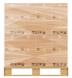 Stretch wrap pallet Royalty Free Stock Images