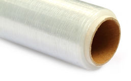 Stretch wrapping film Stock Photos