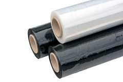 Stretch Wrapping film. royalty free stock photos