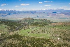 Stretch of Wyoming Mountain Wilderness Royalty Free Stock Photography