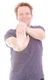 Stretch your forearm Royalty Free Stock Photos