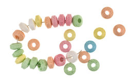 Stretchable candy bracelet that is broken Royalty Free Stock Images
