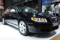 Stretched  Black Volvo s80l Stock Photo