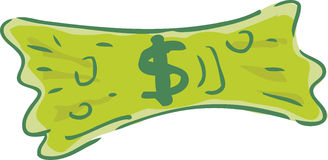 Stretched dollar Royalty Free Stock Images