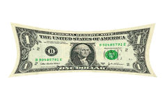 Stretched dollar. A photo depiction of a dollar being stretched Royalty Free Stock Photo