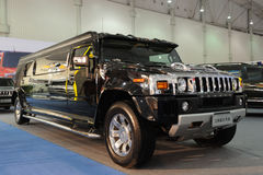 Stretched hummer krystal  suv Royalty Free Stock Photo