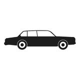 Stretched limousine. Illustration in monochrome of a stretched limousine with at least three rows of seats widely used for weddings, funerals and hen parties Royalty Free Stock Photos