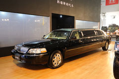 Stretched Lincoln limousine stock photo