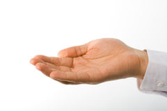 Stretched man hand Stock Photos