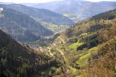 Stretched out valley Stock Image
