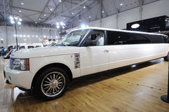 Stretched range rover limousine Stock Photo