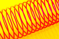 Stretched slinky Royalty Free Stock Image