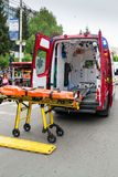 Stretcher and ambulance Royalty Free Stock Image