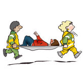 Stretcher bearers royalty free illustration
