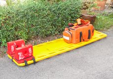 Stretcher for emergency paramedic service. Royalty Free Stock Photo