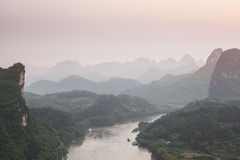 Stretches of the karst mountain landscape Royalty Free Stock Photography