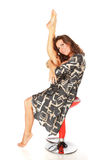 Stretchig grazioso flessibile della donna Immagine Stock