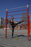 stretching Zdjęcie Stock