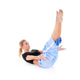 Stretching royalty free stock image