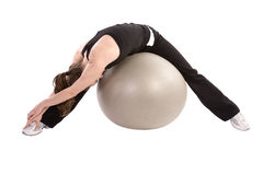 Stretching ball for leg Stock Images